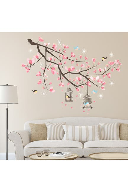 Image of WalPlus Crystal Cherry Blossom Tree Wall Sticker