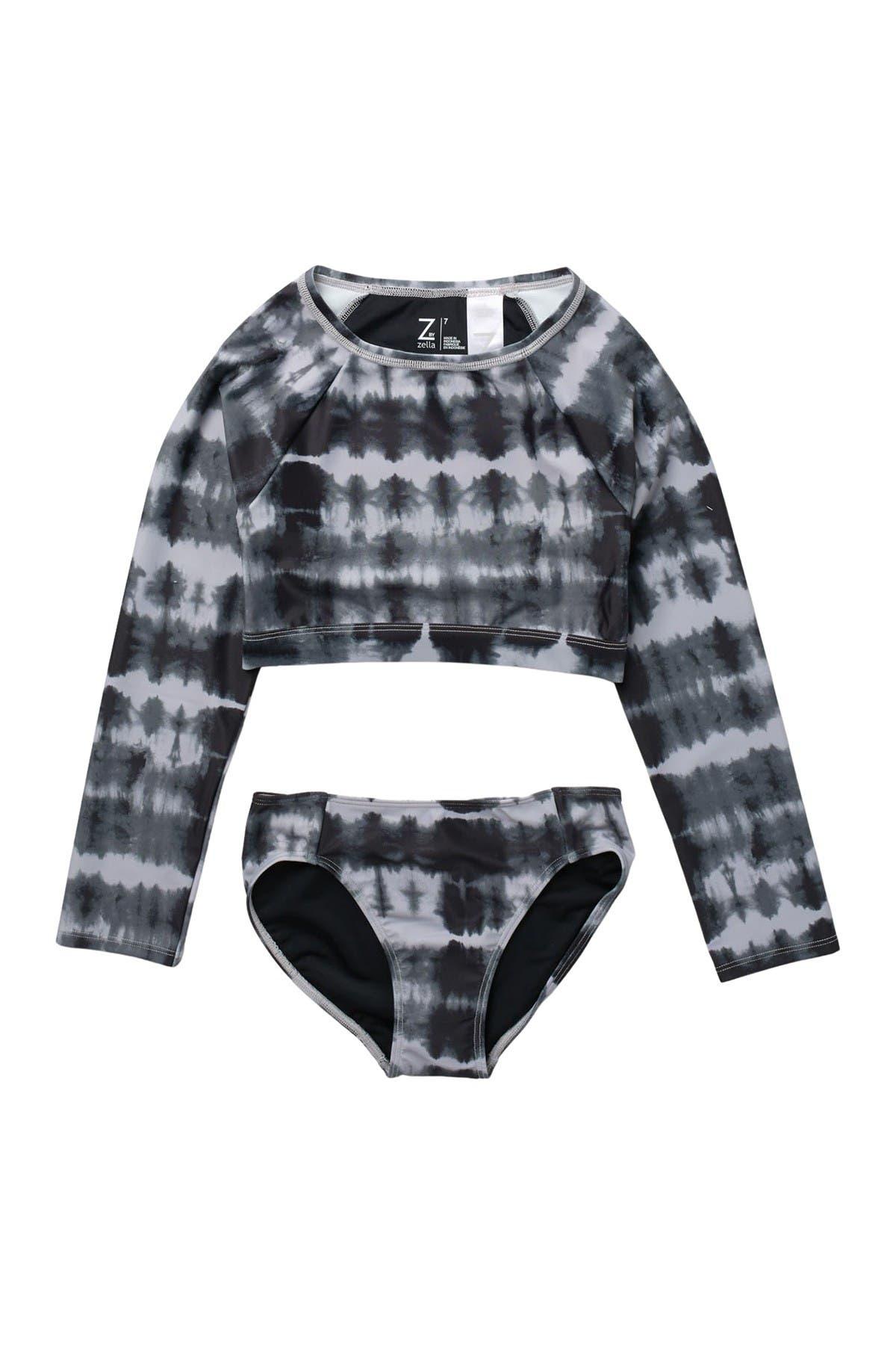 Image of Z by Zella Girl Stretch Rashguard Two-Piece Swimsuit