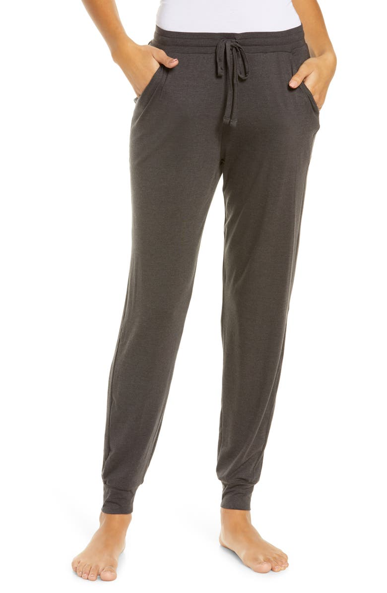 TOMMY JOHN Jersey Joggers, Main, color, CHARC HEATHER