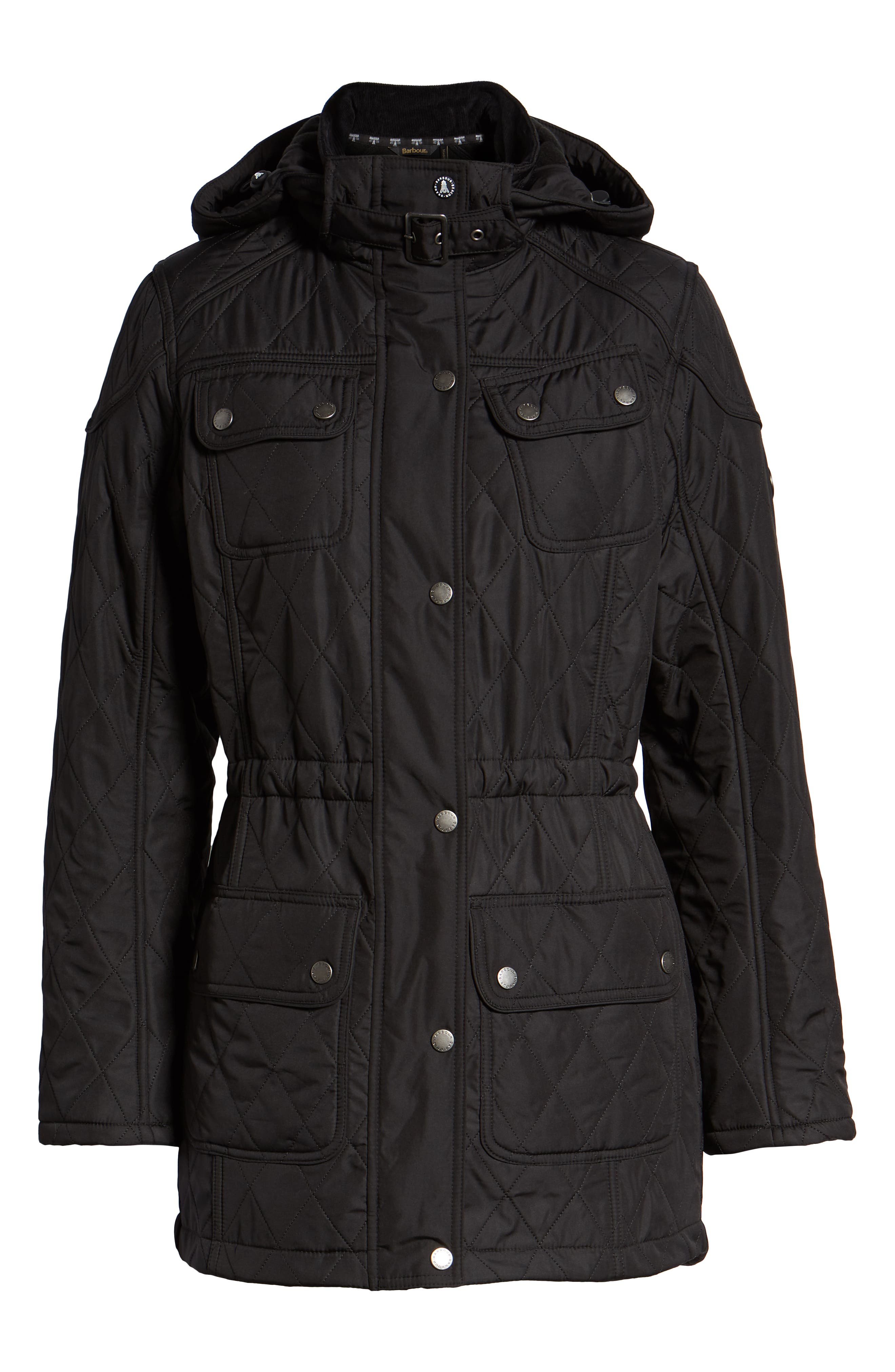 ,                             'Arrow' Quilted Anorak,                             Alternate thumbnail 13, color,                             001