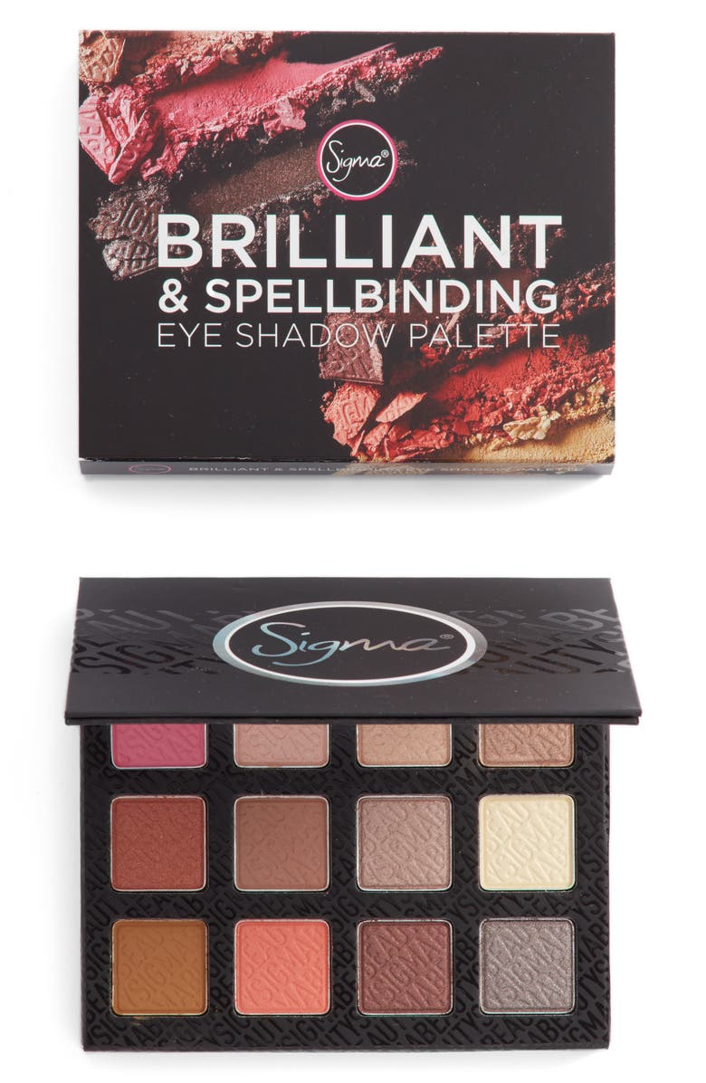 SIGMA BEAUTY Brilliant & Spellbinding Eyeshadow Palette, Main, color, 000