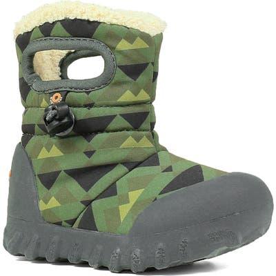 Toddler Bogs B-Moc Mountain Insulated Faux Fur Waterproof Boot, Green