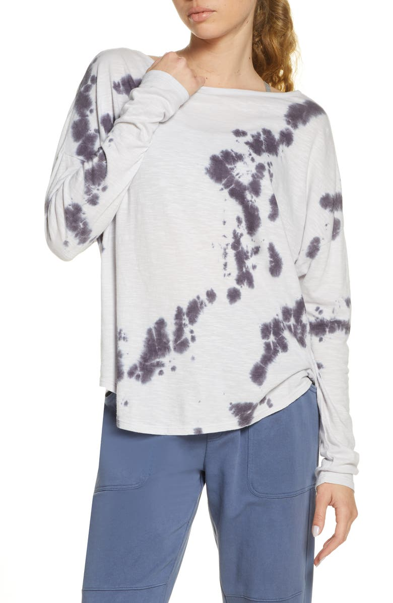 ZELLA Garment Wash Long Sleeve Studio T-Shirt, Main, color, PURPLE HINT