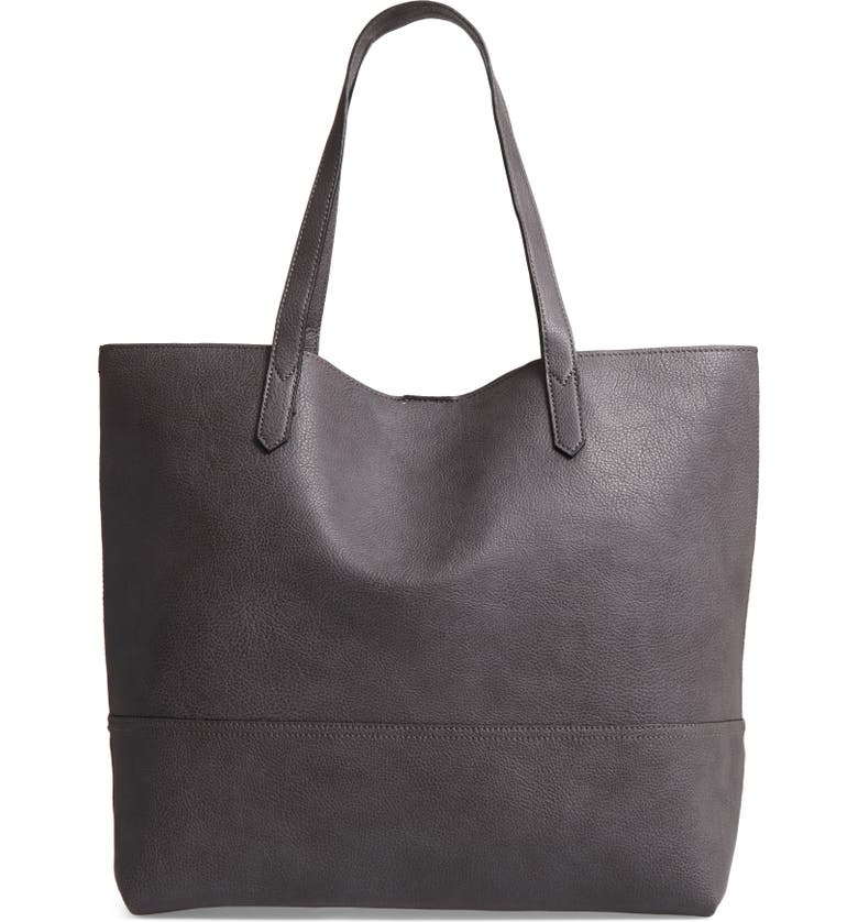 SOLE SOCIETY Dawson Oversize Faux Leather Shopper, Main, color, 021