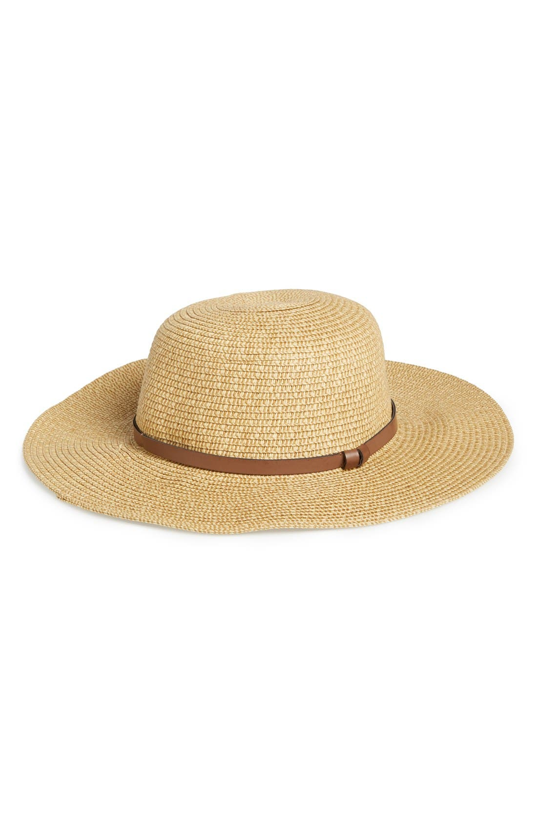 ,                             Straw Floppy Hat,                             Main thumbnail 18, color,                             235