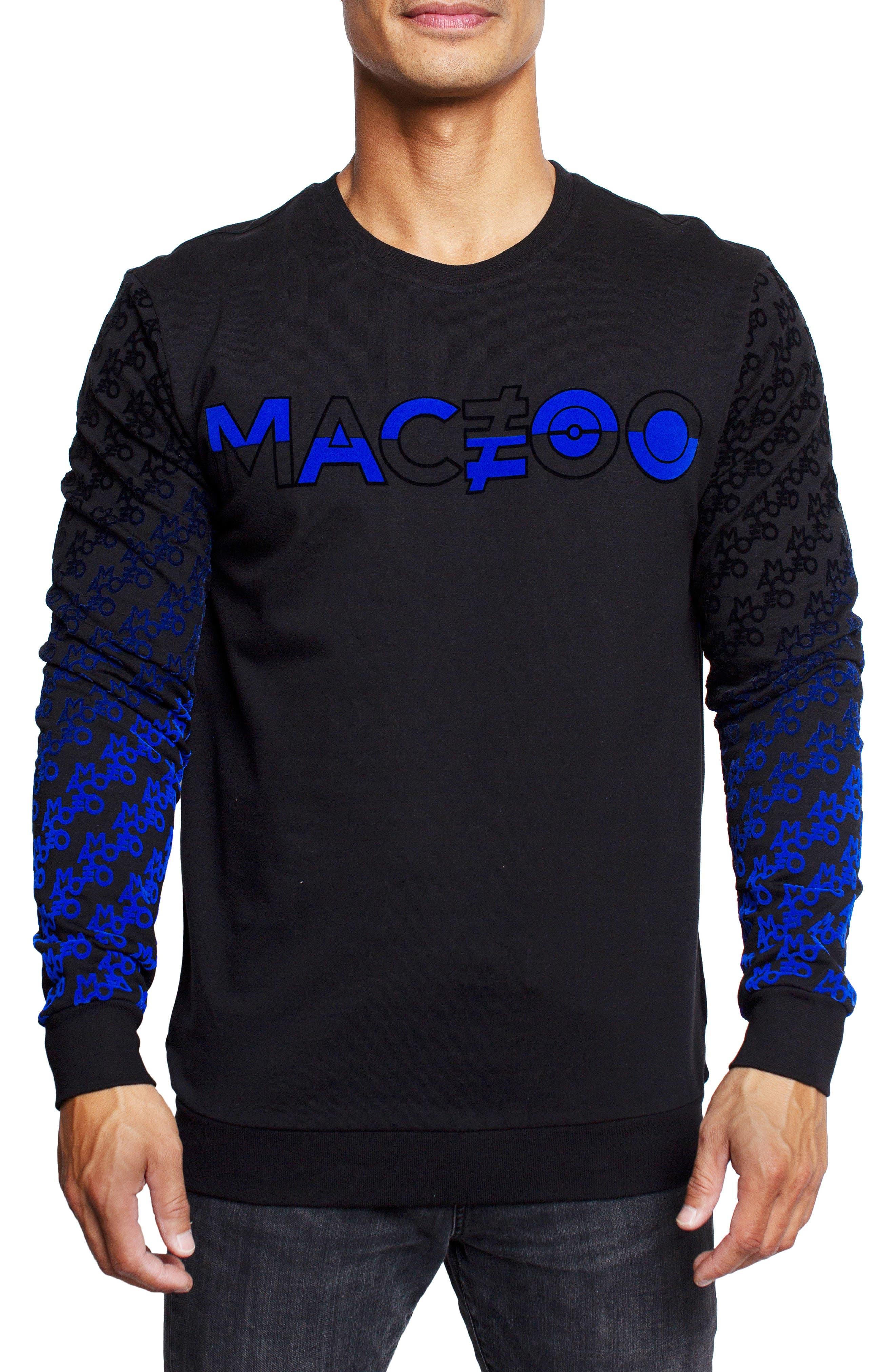 Monogram Stretch Cotton Crewneck Sweatshirt