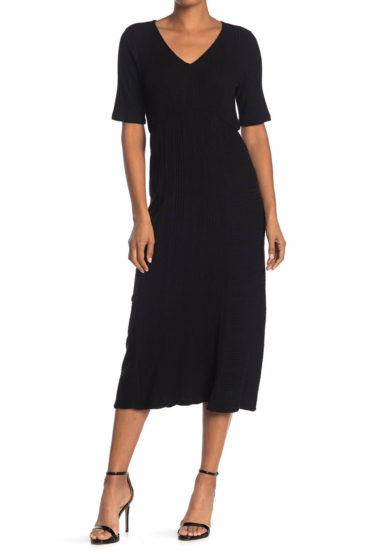 Image of WEST KEI Ribbed Knit Sweater Dress