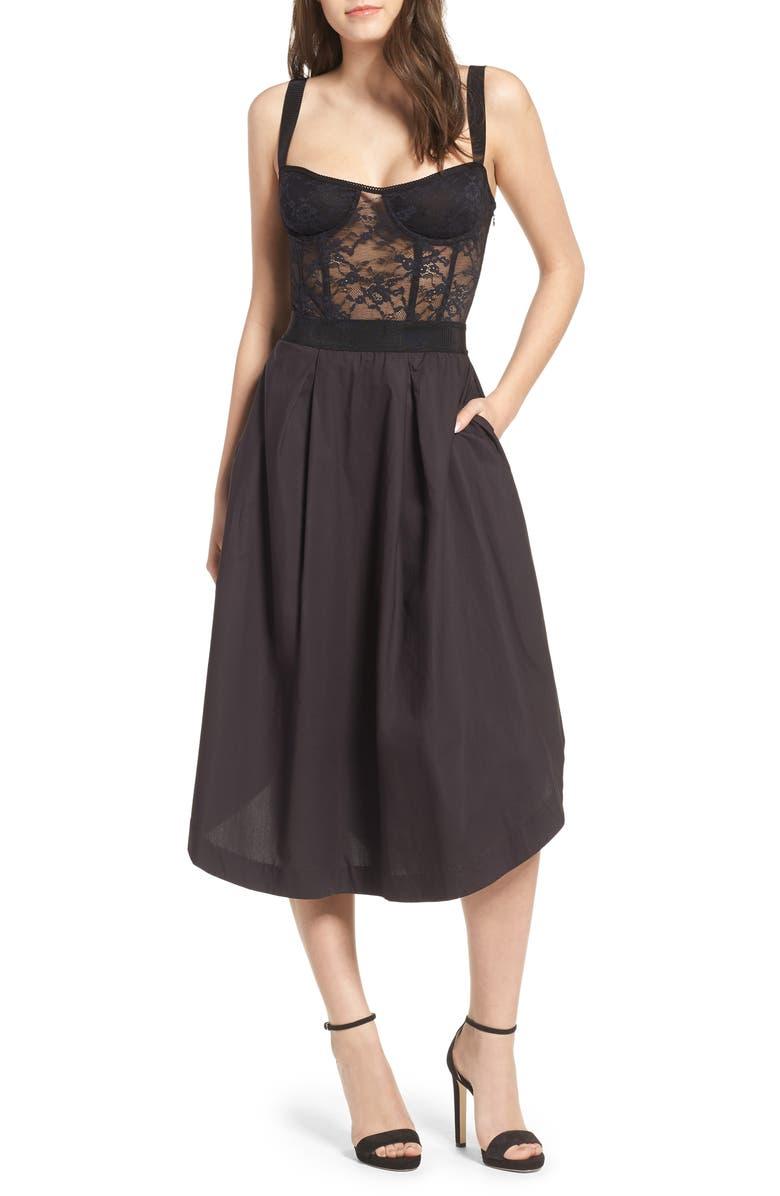 be5a372085a69 Lace Corset Midi Dress
