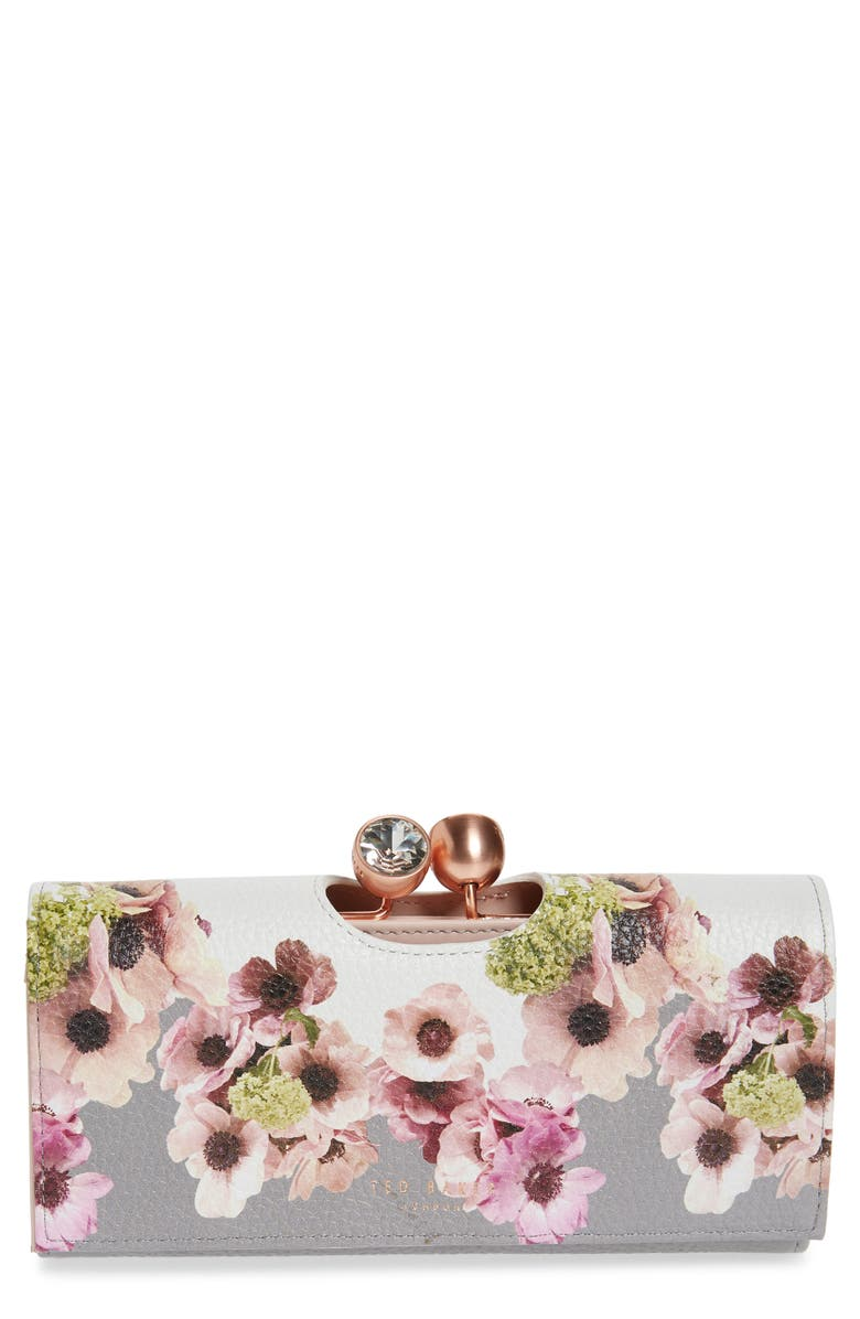 TED BAKER LONDON Adelphe Neopolitan Bobble Matinée Wallet, Main, color, IVORY