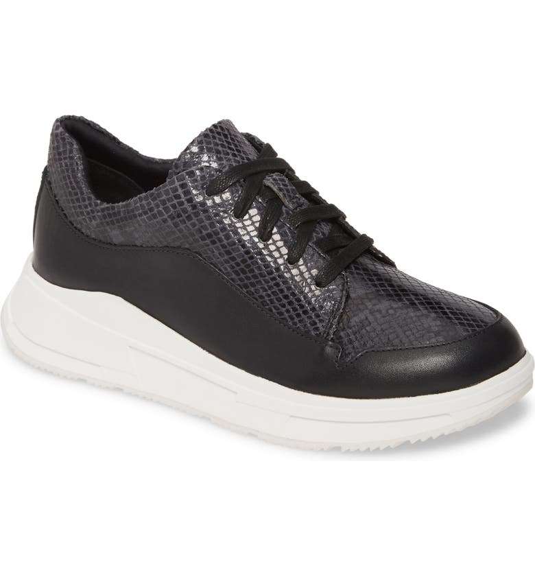 FITFLOP Freya Sneaker, Main, color, BLACK SNAKE PRINT LEATHER