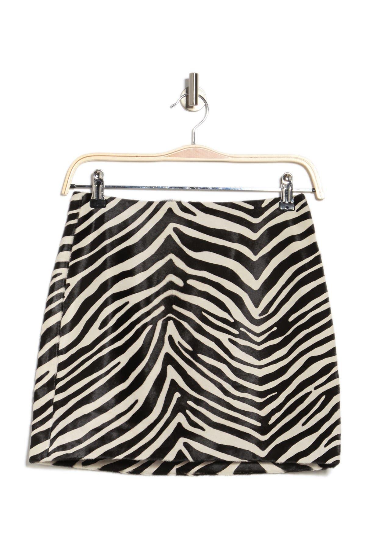 Image of FRAME Zebra Print Mini Skirt