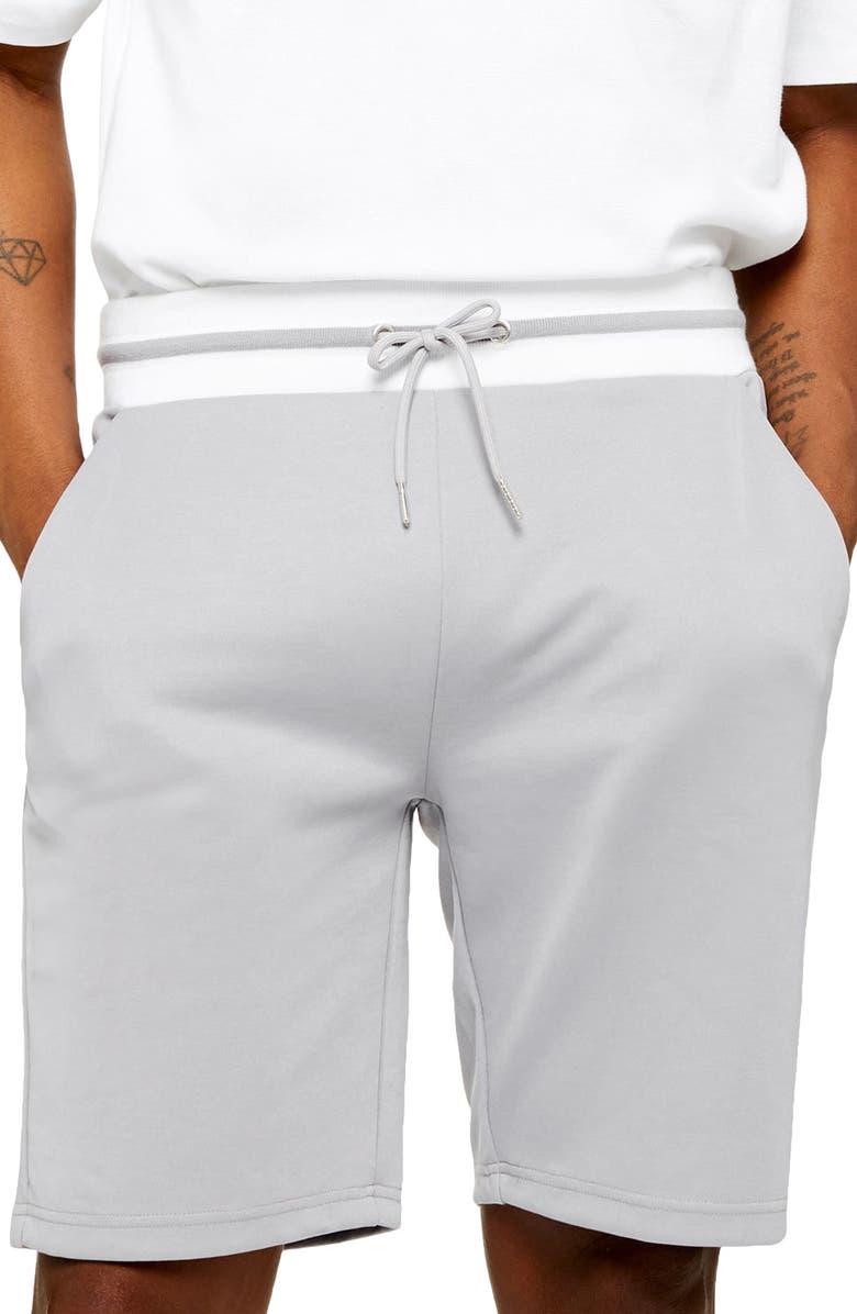 TOPMAN Trico shorts, Main, color, GREY