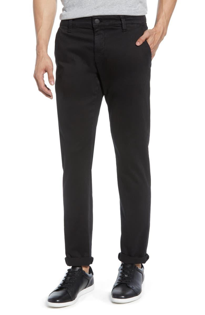 MAVI JEANS Johnny Slim Fit Twill Chino Pants, Main, color, BLACK SATEEN TWILL
