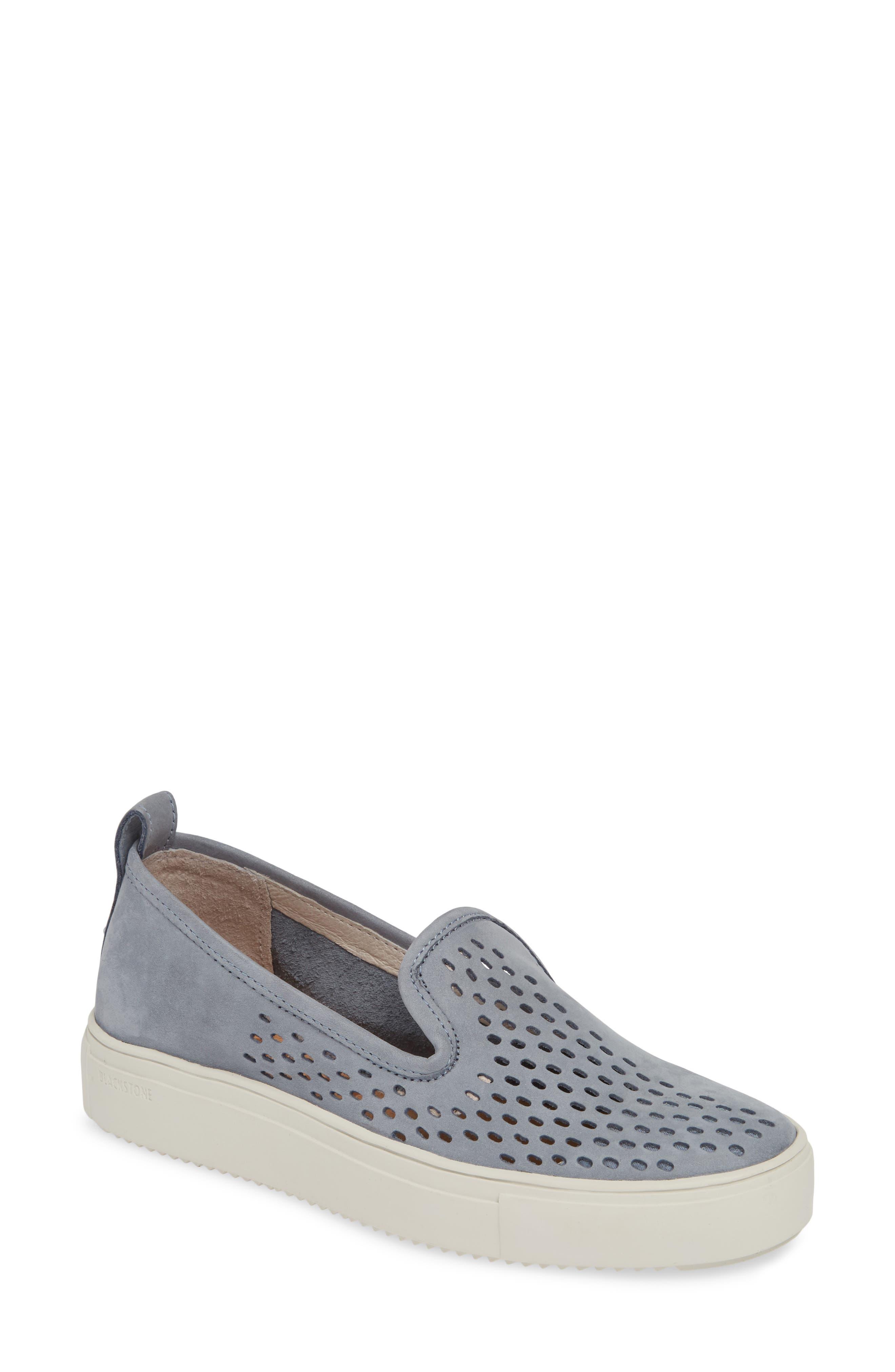 Blackstone Rl68 Perforated Slip-On Sneaker, Blue