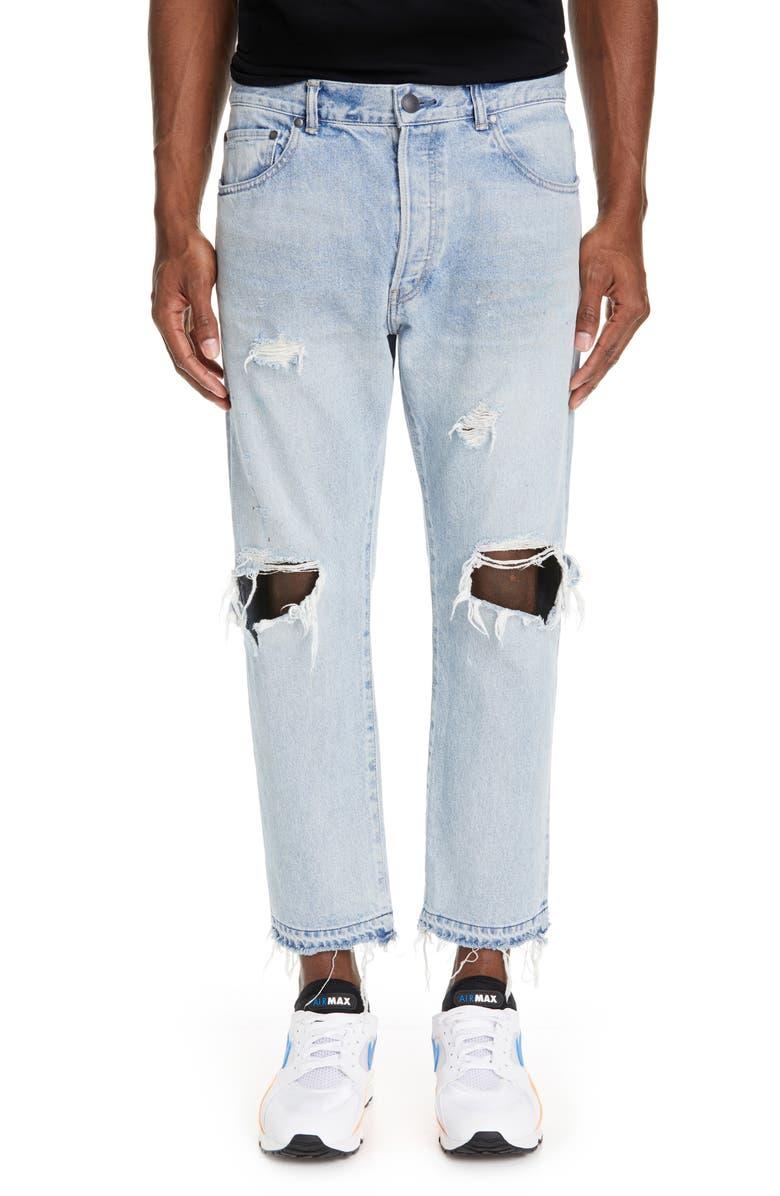 JOHN ELLIOTT The Kane 2 Ripped Slim Fit Crop Jeans, Main, color, LASSEN