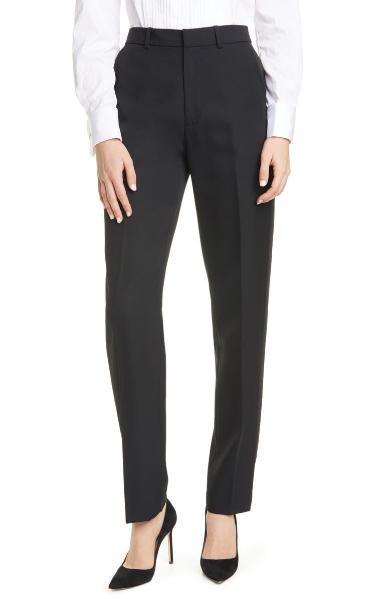 POLO RALPH LAUREN Sinclair Straight Leg Pants, Main, color, BLACK