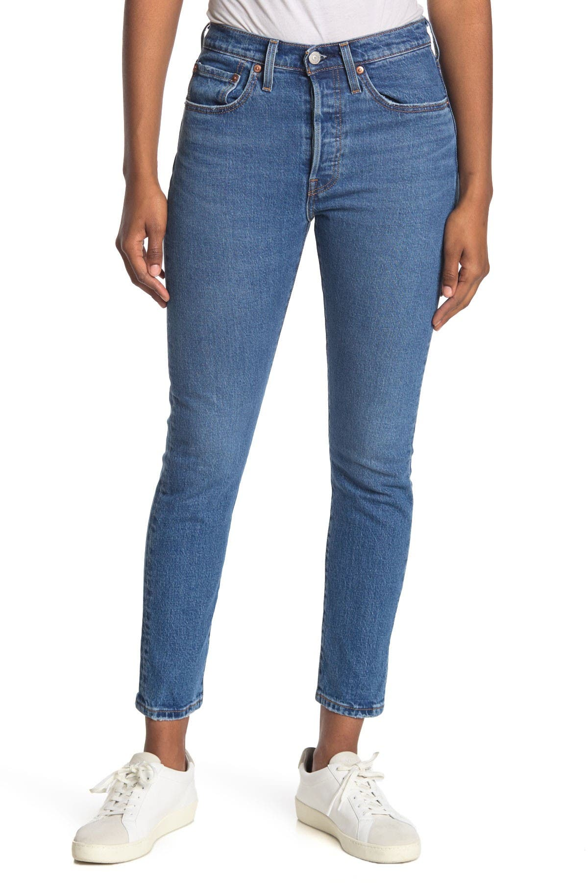 "Image of Levi's 501 Skinny Jeans - 28"" Inseam"
