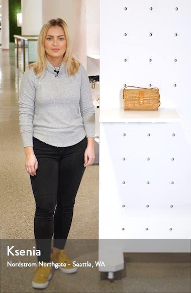Woven Rattan Box Crossbody Bag, sales video thumbnail