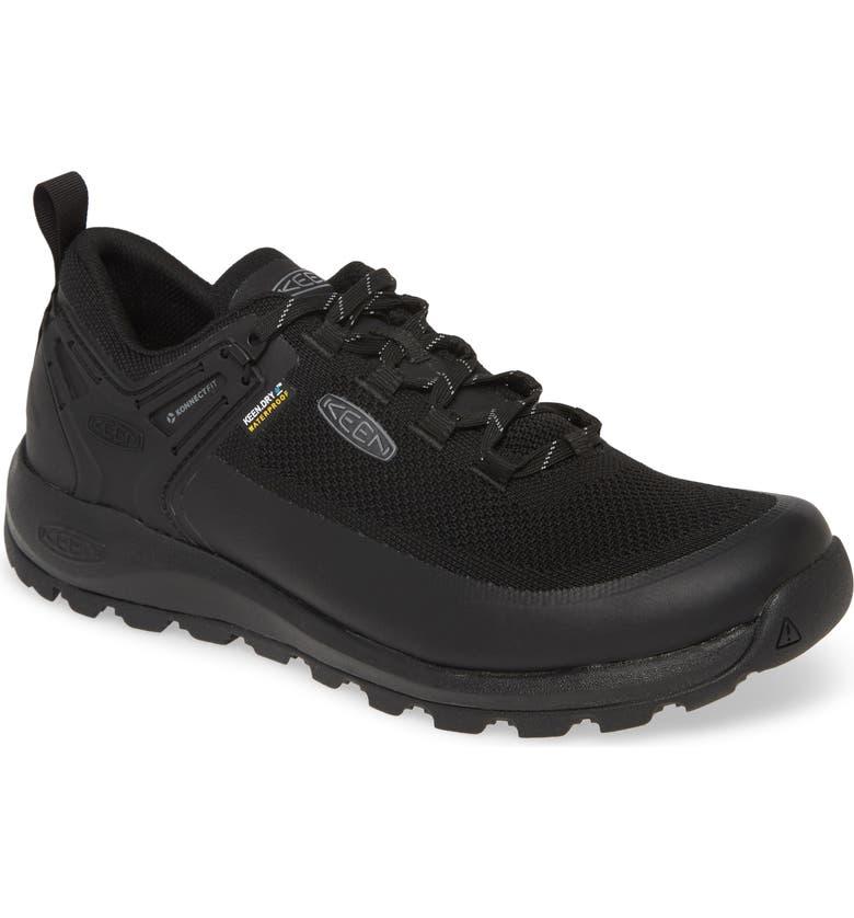 KEEN Citizen Evo Waterproof Trail Shoe, Main, color, TRIPLE BLACK/ BLACK