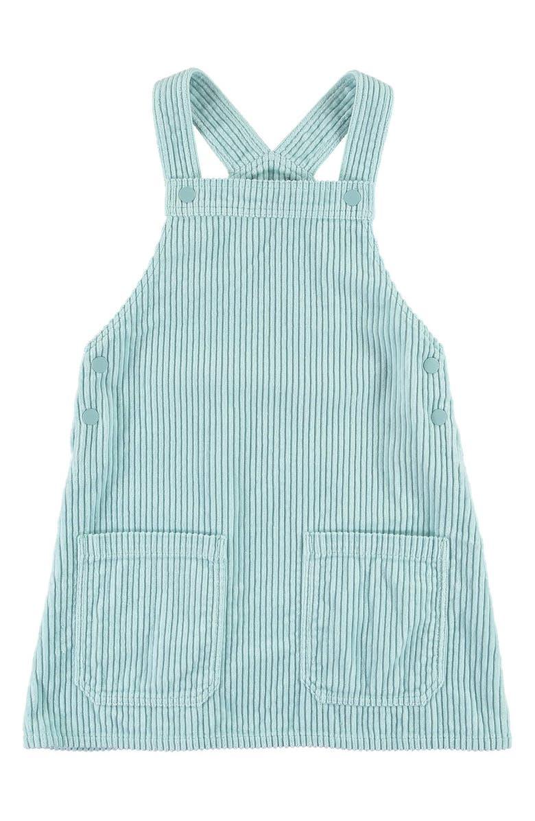 STELLA MCCARTNEY KIDS Corduroy Pinafore Dress, Main, color, BLUE