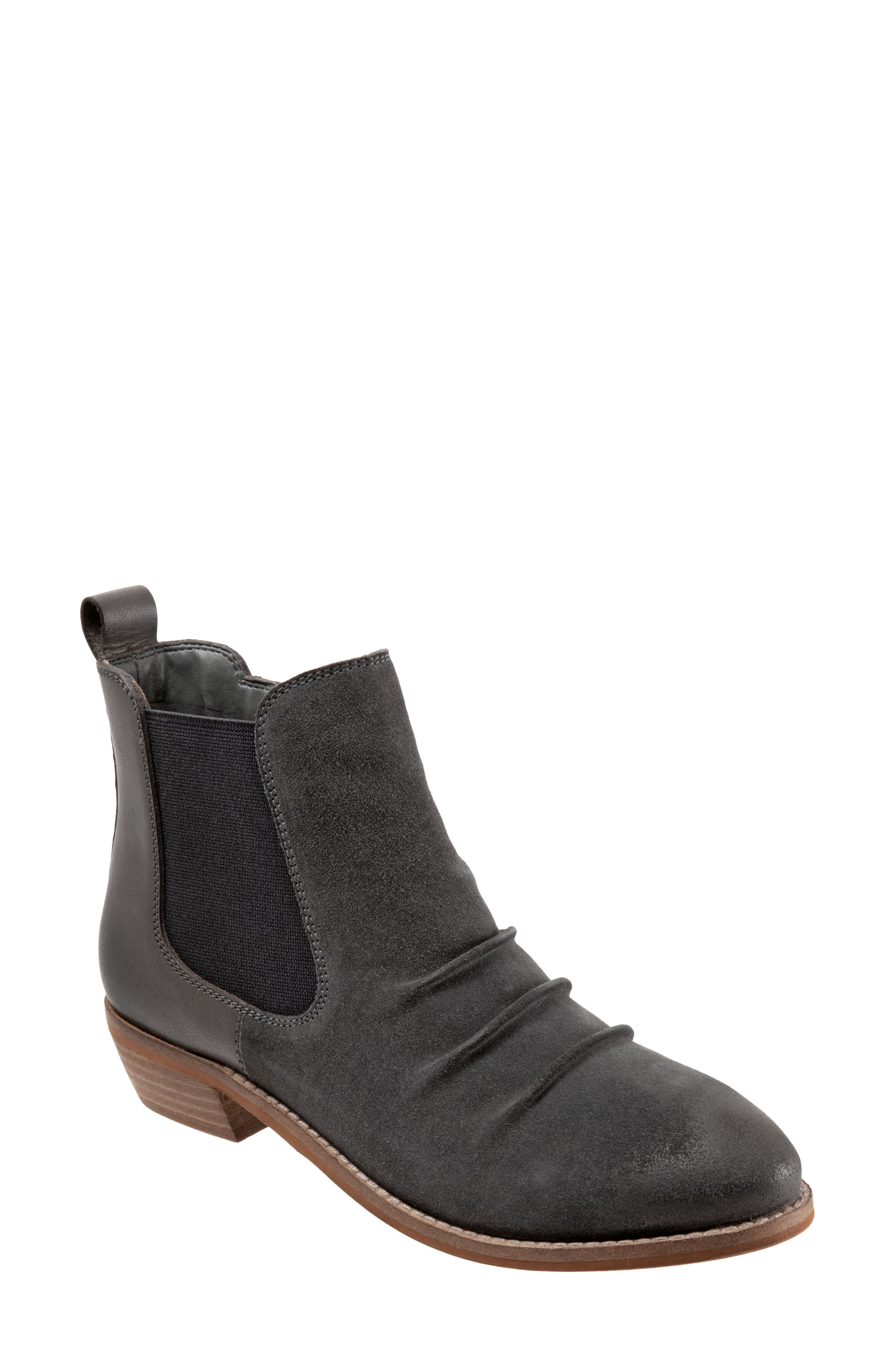 Ruched styling amplifies the casual-chic appeal of an updated Chelsea boot grounded by signature cushioning for everyday comfort. Style Name: Softwalk Rockford Chelsea Boot (Women). Style Number: 6128758. Available in stores.