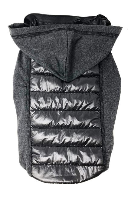 Image of Pet Life 'Apex' Lightweight Hybrid 4-Season Stretch & Quick-Dry Dog Coat w/ Pop out Hood - Large