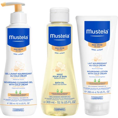 Mustela Dry Skin Bath Time Set