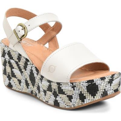 B?rn Dorrah Platform Sandal, White