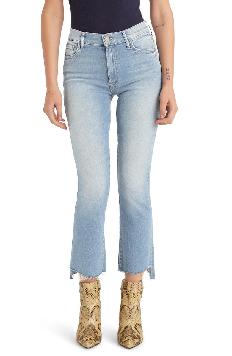 MOTHER The Insider Crop Step Fray Jeans, Main, color, FRESH CATCH