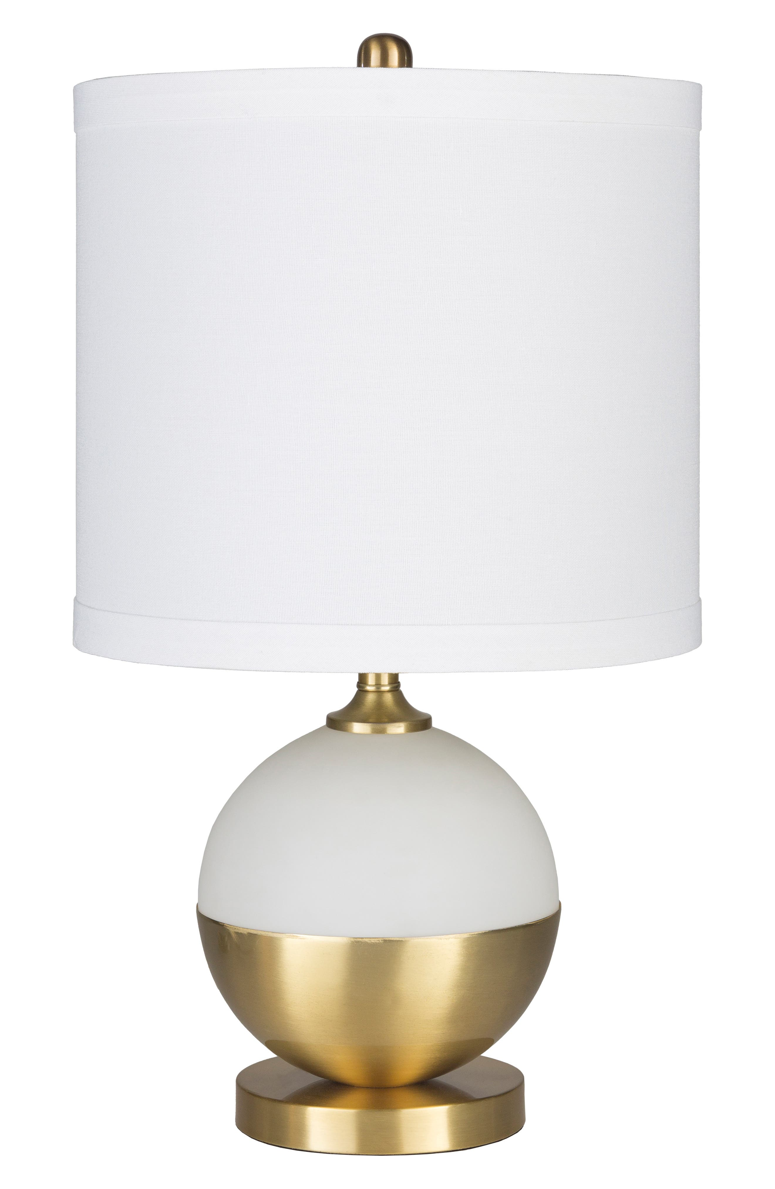 Surya Home Askew Table Lamp Size One Size  White