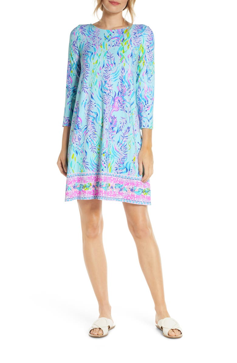LILLY PULITZER<SUP>®</SUP> Ophelia Swing Dress, Main, color, BLUE OASIS TINT SWIM SHADY ENG