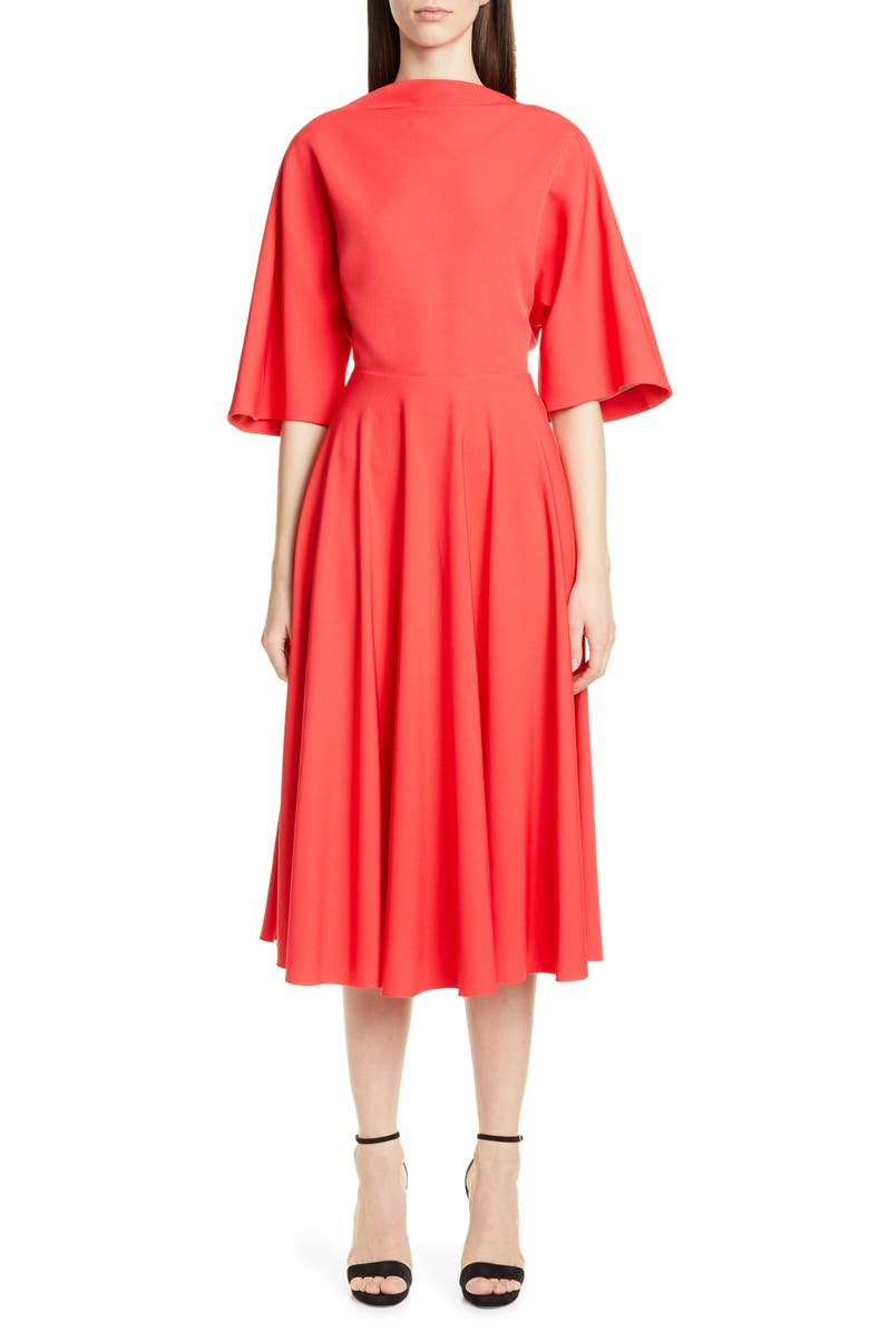 ROKSANDA Bow Back Midi Dress, Main, color, 600