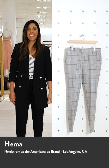 Mitch Plaid Skinny Fit Pants, sales video thumbnail