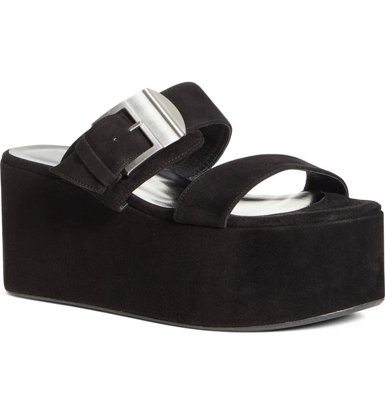 SIMON MILLER Coaster Platform Slide Sandal, Main, color, BLACK 90303