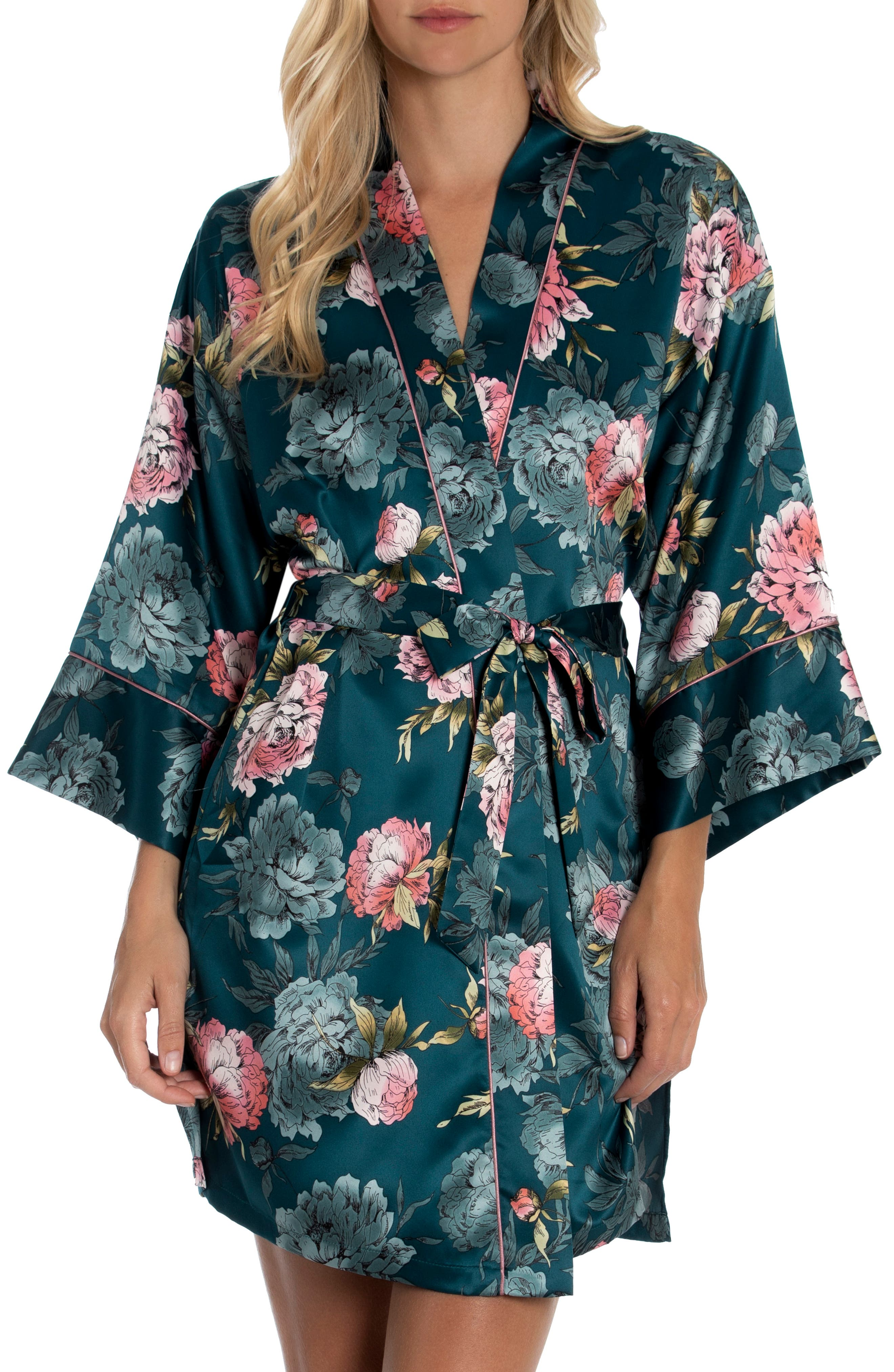 Darby Floral Satin Wrap