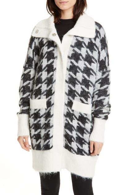 Reiss Coats HOUNDSTOOTH SWEATER COAT