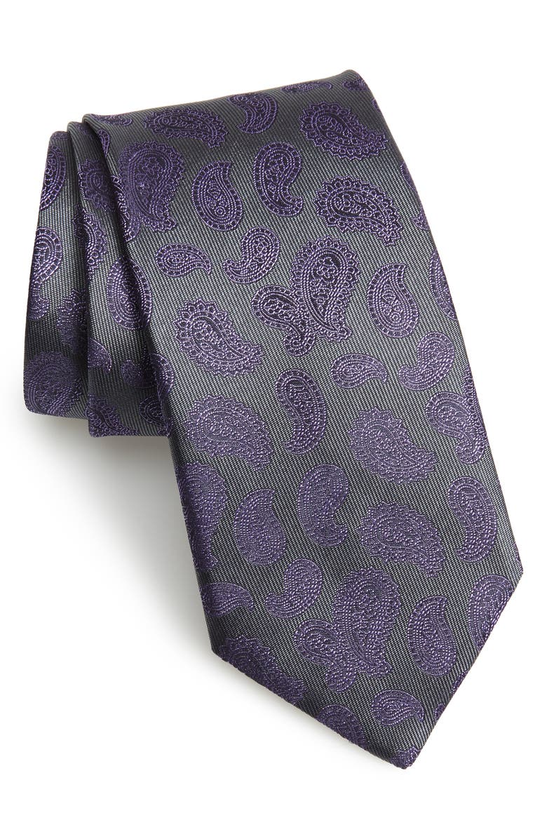 CANALI Paisley Silk Tie, Main, color, 020