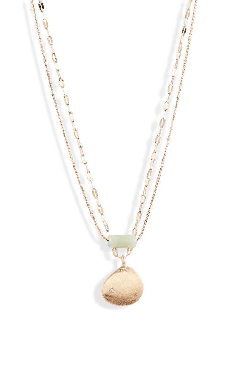 SOMETHING NAVY Sea Glass & Shell Layered Necklace, Main, color, 400