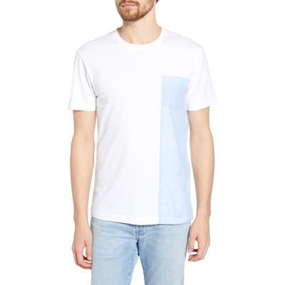 French Connection Woven Patch T-Shirt, White