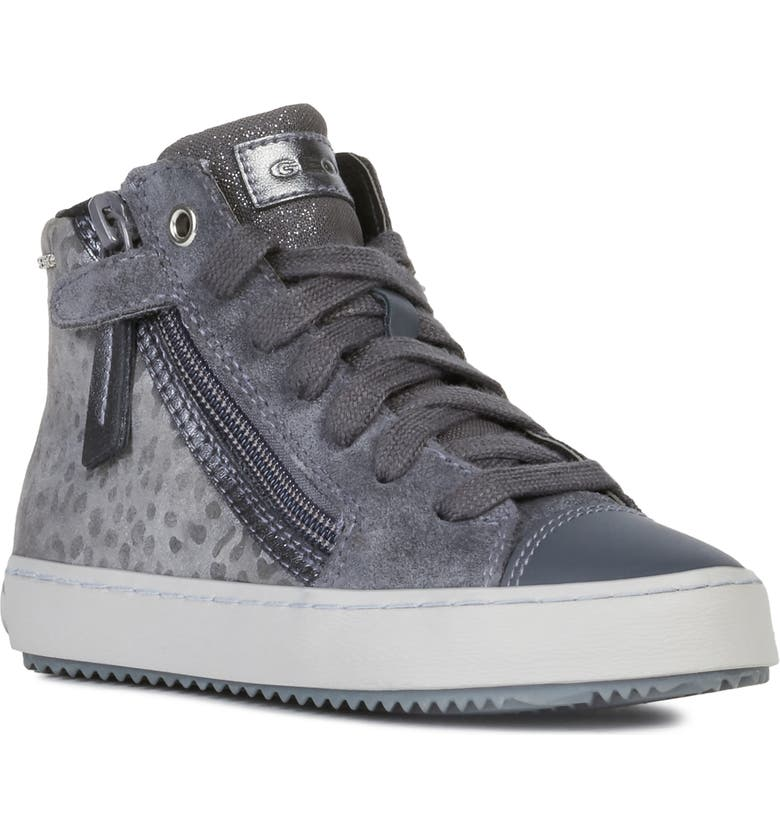 GEOX Kalispera High-Top Sneaker, Main, color, DARK GREY