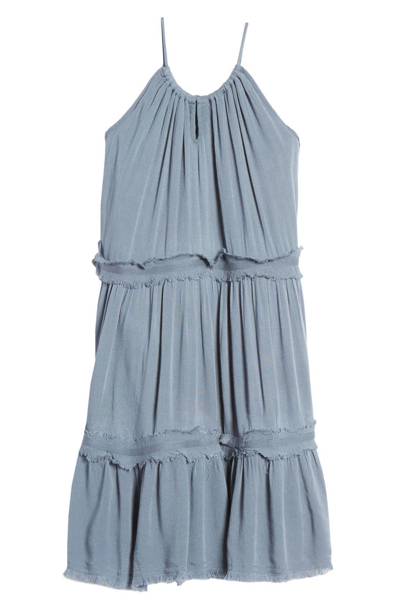 TUCKER + TATE Gauzy Tiered Sundress, Main, color, BLUE CHINOISE