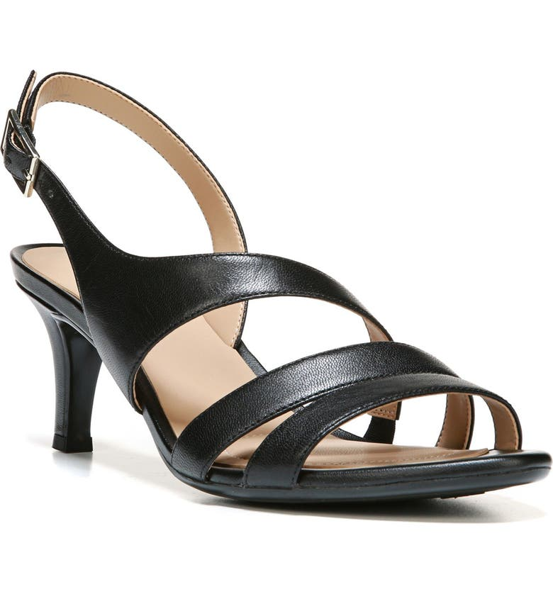 NATURALIZER Taimi Sandal, Main, color, BLACK LEATHER