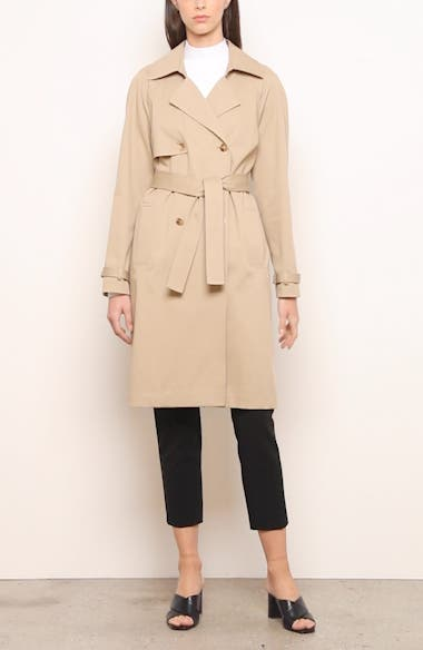 Luxe Stretch Twill Trench Coat, video thumbnail