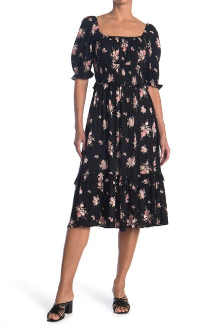 Image of Angie Floral Square Neck Maxi Dress
