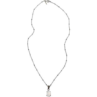 Adornia Oval Moonstone Pendant Necklace