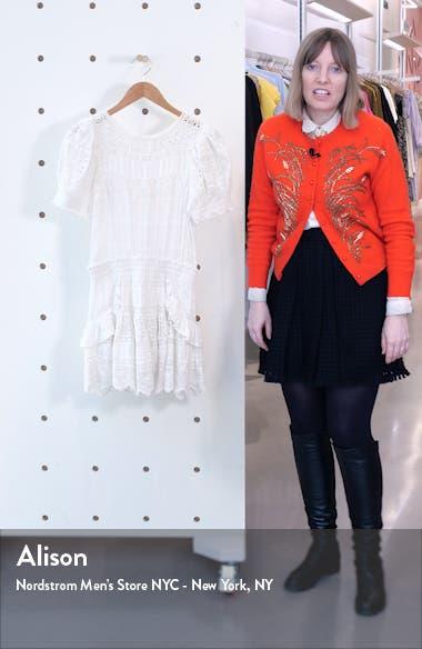 Augustine Ruffle & Lace Minidress, sales video thumbnail