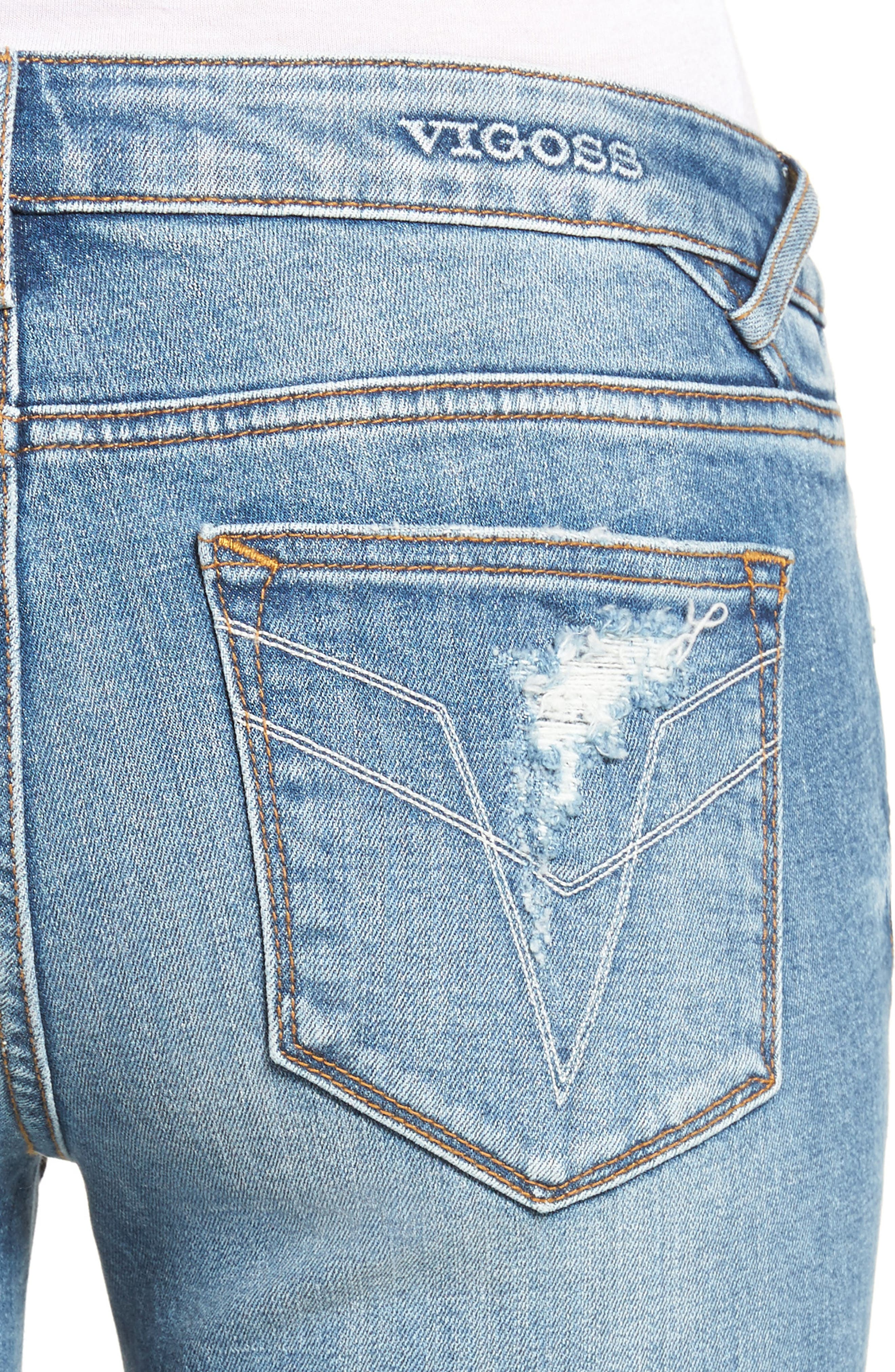 ,                             Chelsea Distressed Skinny Jeans,                             Alternate thumbnail 4, color,                             426