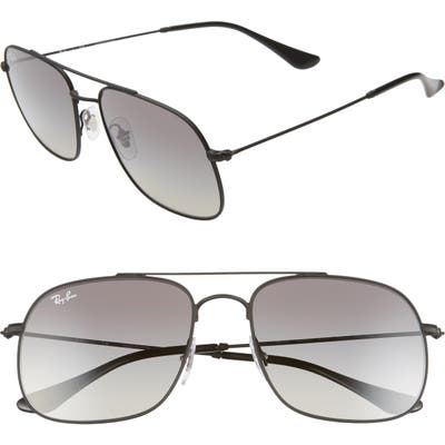 Ray-Ban 5m Gradient Square Sunglasses - Rubber Black/ Black Gradient