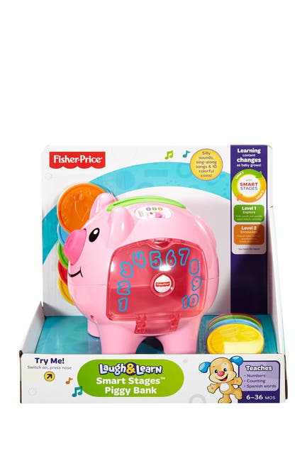 Image of Fisher-Price Laugh & Learn Smart Stages Piggy Bank