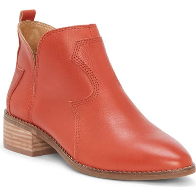 Lucky Brand Leymon Western Bootie- Red